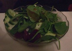 Spinach salad (jumbledpile) Tags: supperclub halvorsons eatinginmadisonatoz