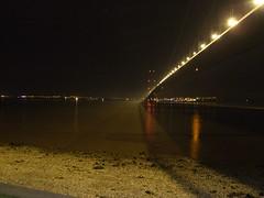 humber bridge at night 5 (chris875) Tags: bridge reflection water river dark lights fuji hull humberbridge humber