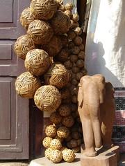 Sepak Takraw balls? (Wondering Wanderer) Tags: laos luang takraw prabang sepak