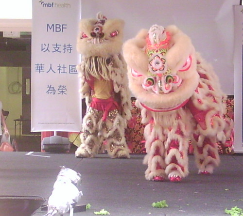 Lion Dancing, Chinatown Mall, Duncan St - Chinese New Year, Fortitude Valley, Brisbane, Queensland, Australia 070217-3