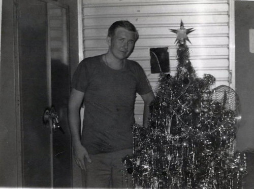 Dennis in Vietnam, Christmas 1969.