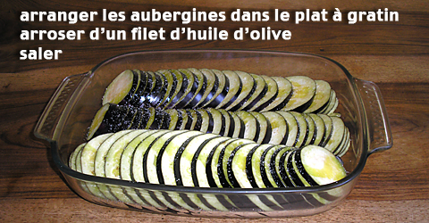 Tian - Arrangement des aubergines