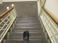 Don't look down (Life As Art) Tags: selfportrait me stairs work step bigstep dontlookdown 365days