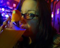 Betsy Enjoys a Blue Moon (Andrew Mudd) Tags: beer bar pub drink cocktail liquor alcohol tavern anchor betsy booze everett bluemoon