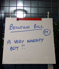 Birthday Bill is a very naughty boy!