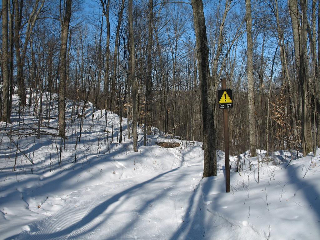 Steep hill on Trail 55, Gatineau Park