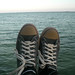 Shoes against Corozal Bay