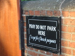 Pray do not park here (historyanorak) Tags: church birmingham explore solihull brum knowle praydonotparkhere whydonttheyallshowupinsearches