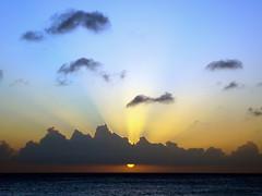 Day Into Night (Musical Mint) Tags: ocean travel sunset summer vacation sky sun holiday beach water clouds island amazing paradise dusk carribean aruba silverlining helluva musicalmint