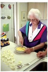 1997: Grandma. Deviled Eggs.