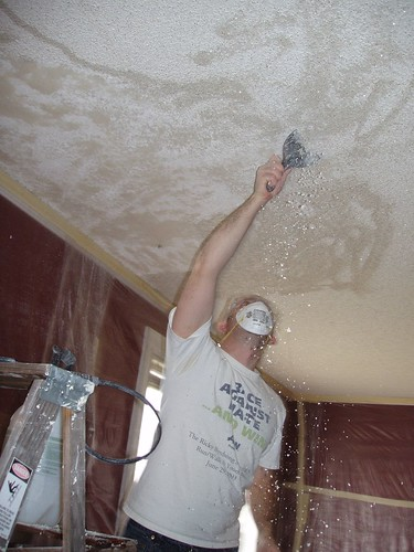 Popcorn Ceiling Removal - Oh The Fun!
