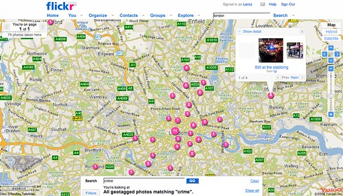 Crime map of London