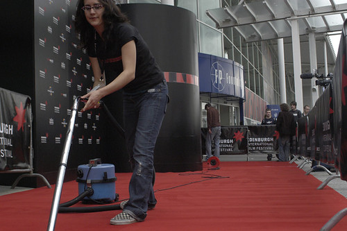 Hoovering the red carpet.jpg
