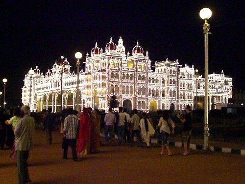 Mysore höllin upplýst