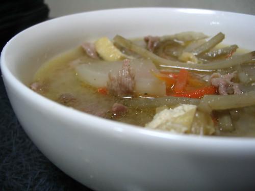 tonjiru - pork miso soup