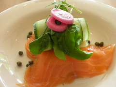 smoked salmon at the food business