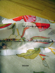 16 - sew collar to blouse