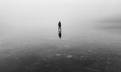 Infinity (Explored) (Tore Thiis Fjeld) Tags: infinity ice skating skate lake surface fog norway oslo sognsvann solitude minimalism mono bw frozen winter december congelationice