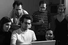 watching porn on the Internet (Delgoff.) Tags: people bw st computer macintosh mac laptop flash internet group porn e2 speedlite strobist