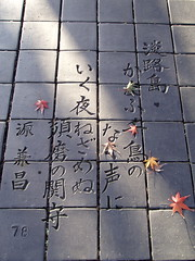 #7048 100 poems by 100 poets () #76 (Nemo's great uncle) Tags: autumn tokyo poem    setagayaku tky kamiyga