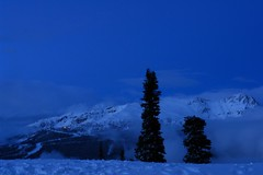 Winter scene in Canada. (tollen) Tags: light sky holiday canada mountains night clouds whistler advent twinkle specland specnature 6000feet anawesomeshot impressedbeauty