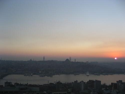 puesta de sol desde Torre Gálata