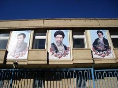 Akhmadinejad, Khamenei, Khomeini