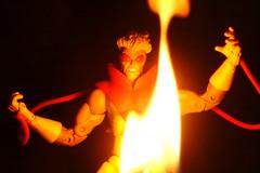 Pyro (ElDave) Tags: black macro toy toys actionfigure fire xmen marvellegends pyro villain