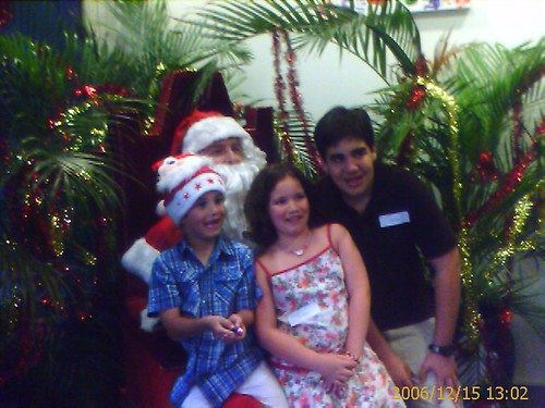 Santa meets the arrigo kids