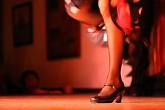 Flamenco or Flamingo ? (Andwan) Tags: madrid light red woman stockings foot shoe 50mm dance spain floor stage leg calf flamenco gtaggroup goddaym1