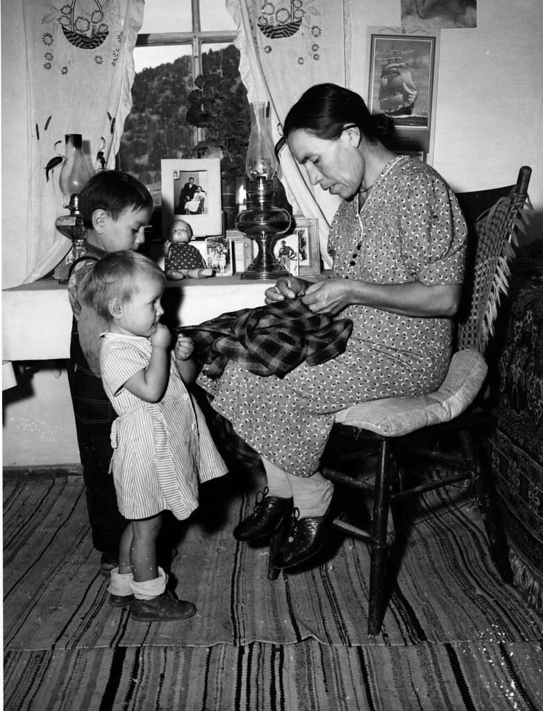 Mrs. Maclovia Lopez and her children