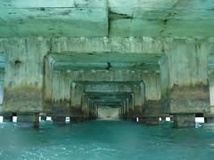 Beneath Hanalei Pier... (baitos) Tags: hawaii pier kauai hanalei