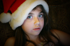 Merry Lillie... (SerialCoder) Tags: santa xmas canon kid laptop rebelxt