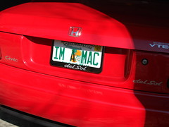 IM A MAC - Personalized License Plate (mactarkus) Tags: sol del macintosh mac im license