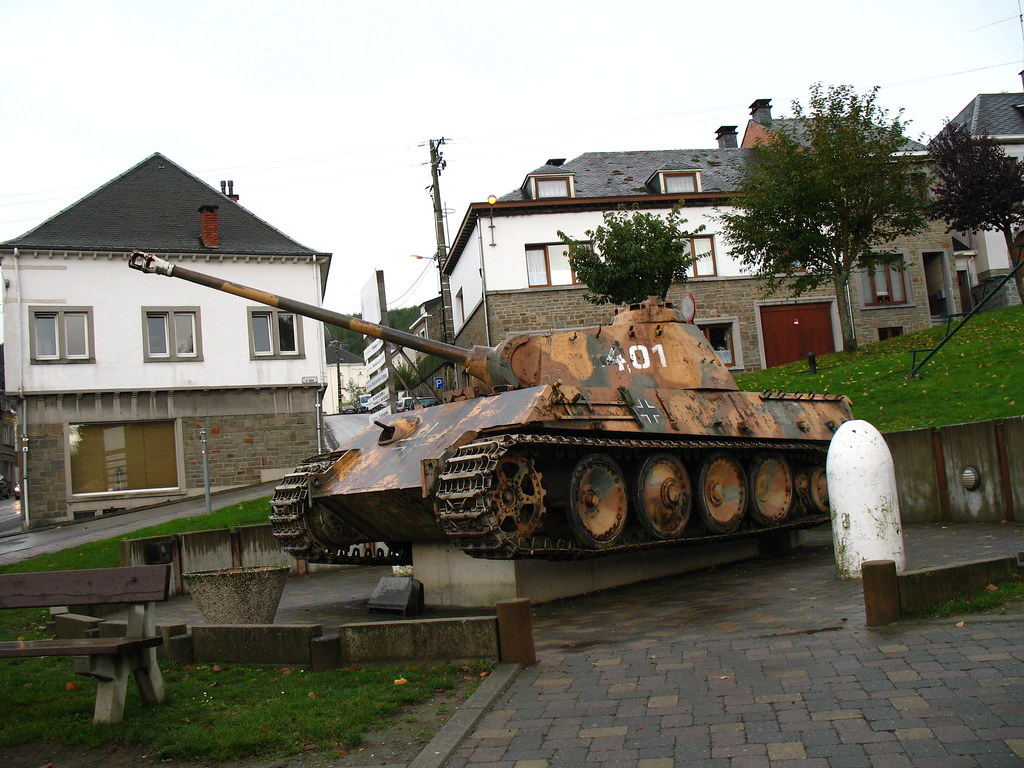 Battle of the Bulge:  Panther Tank in Houffalize (nice story attached)