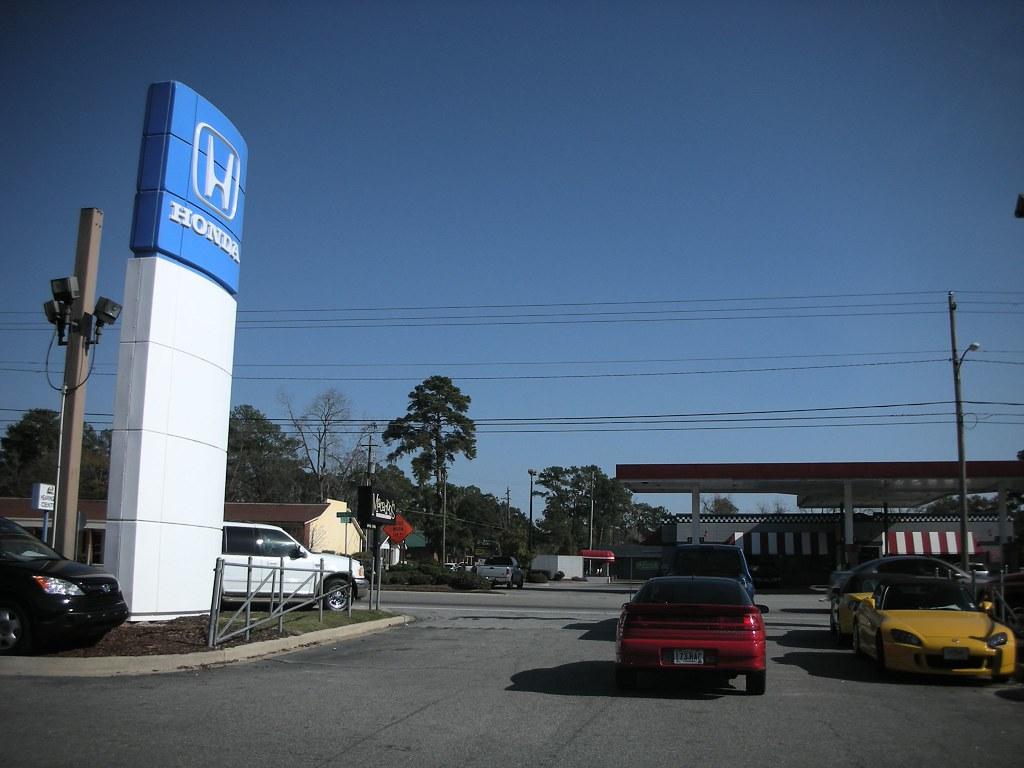 Leaving the Honda - Mitsubishi Dealership