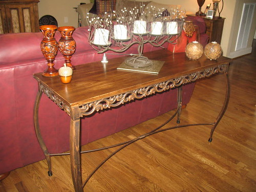 Tutorial Replacing A Glass Topped Sofa Table With A Stained Wooden