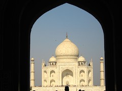 Our first view of the Taj
