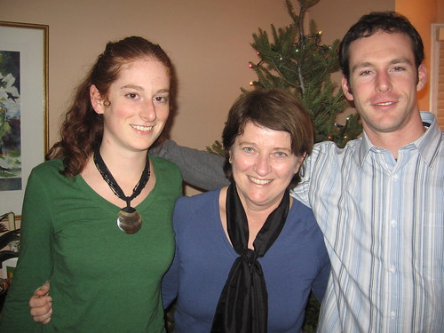 Chris Harris of Shakti Reforestation with sister Elise and Mom Jo