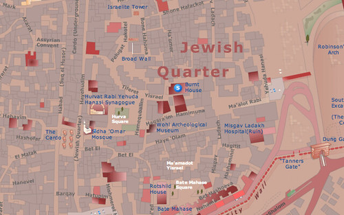 Jewish Quarter Jerusalem Map