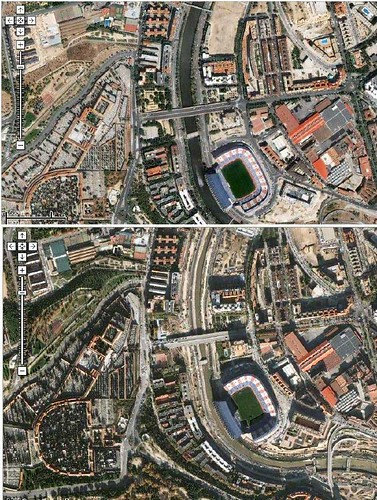 Madrid m30 antes y despu�s de Gallard�n