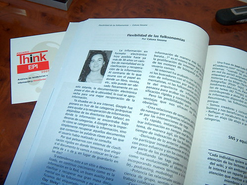 Catuxa Seoane en el anuario Thinkepi