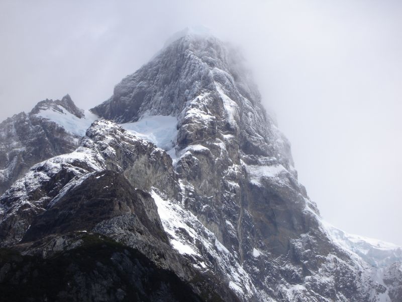 Left side of hanging glacier