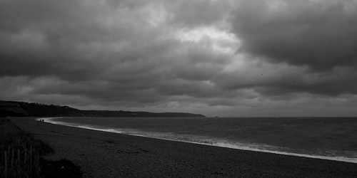 Stormy scene on Slapton Sands