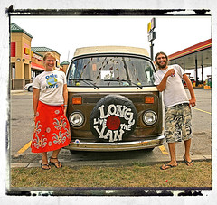 Long Live The Van (FotoEdge) Tags: road summer vw youth concrete highway driving curves wheels reststop headlights gratefuldead tires dreams gnarly hippie 1960s shoulders van dreamer tar truckin potholes roadway yellowline centerline jeffersonairplane hummmm summeroflove 40years blowouts windshieldwipers hioctane longlivethevan