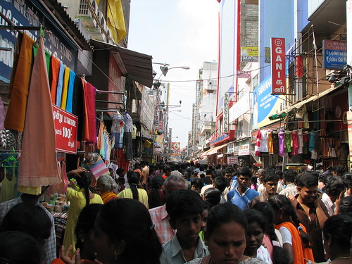 India - Sights and Culture - 001 - crowd shopping