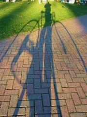 My shadow, bike and I