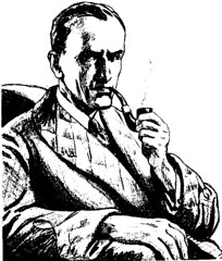 Sherlock Holmes looking fairly modern