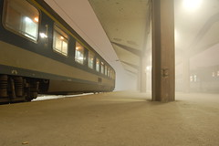 Sarajevo Station (stevec77) Tags: travel mist fog train d50 carriage sarajevo bosnia platform trains nikond50 traincarriage bosniaandherzegovina bosnaihercegovina mv magyarllamvasutak bbcopenlab