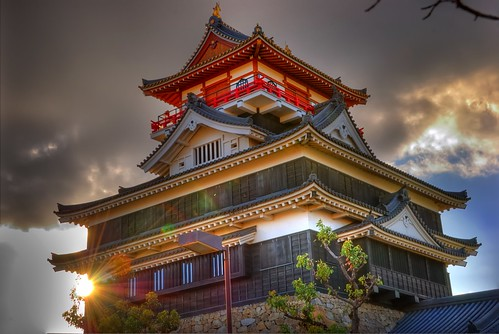 Kiyosu Castle at sunset (HDR)